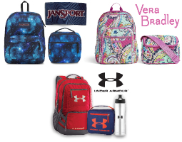 Jansport, Vera Bradley, and Under Armour Accessories